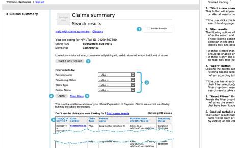 Claims Summary Tool