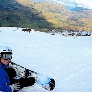 Snowboarding Coronet Peak, New Zealand